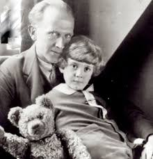 Alan Alexander Milne, Christopher Robin and the teddy bear Winnie the Pooh